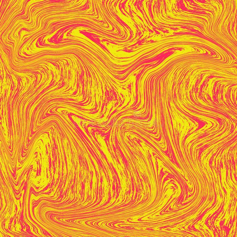 Kall flytande marmorerar bakgrund Kombinationen av rött och gult textur som orange fruktsaft som är ny att se Vätskedigitalt vektor illustrationer