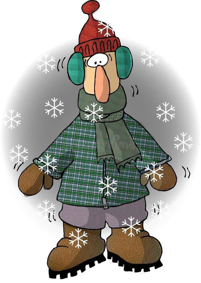 Download Kall grabb stock illustrationer. Illustration av män, snow - 36572