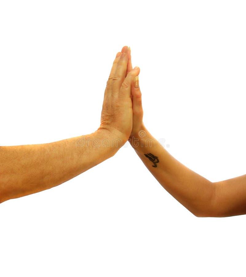 kall handskakning royaltyfria foton