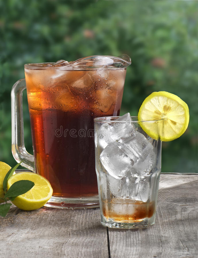 kall iced tea royaltyfria bilder