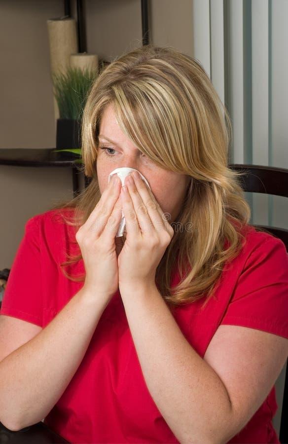 kall influensasäsong arkivbild