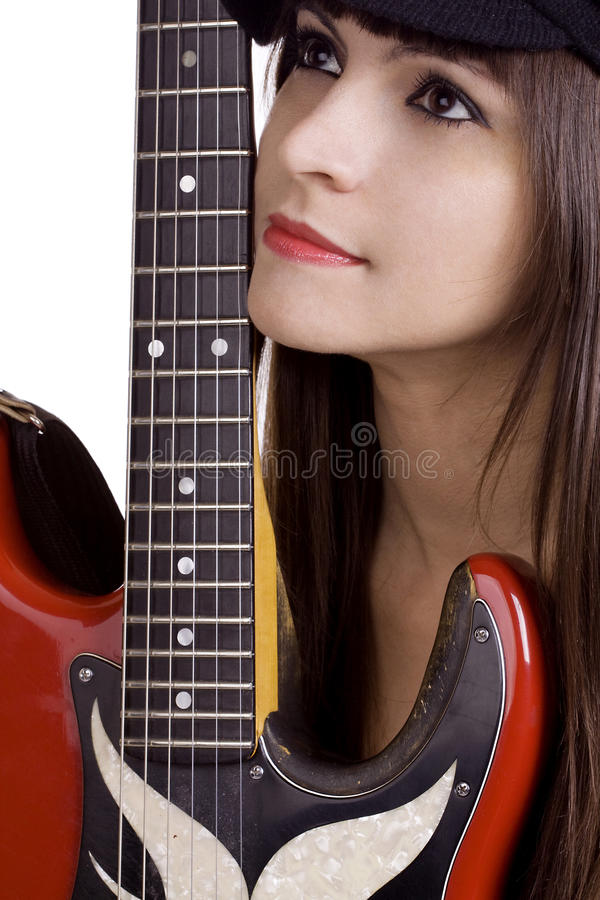 kall kvinnligmusiker royaltyfri bild