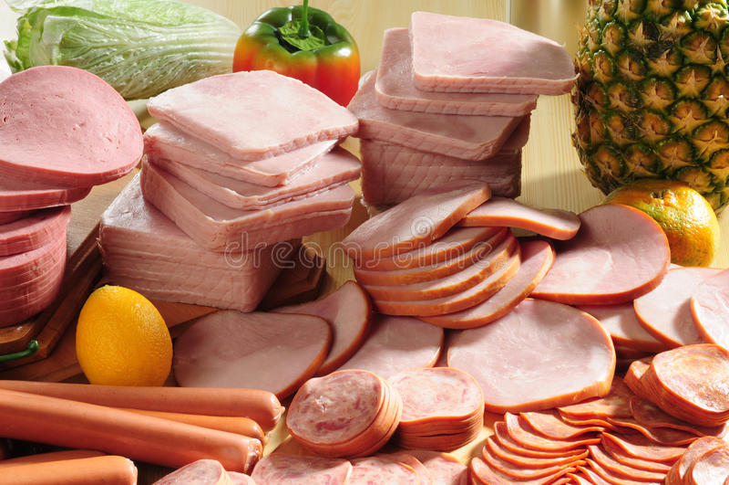 kall meat royaltyfria foton