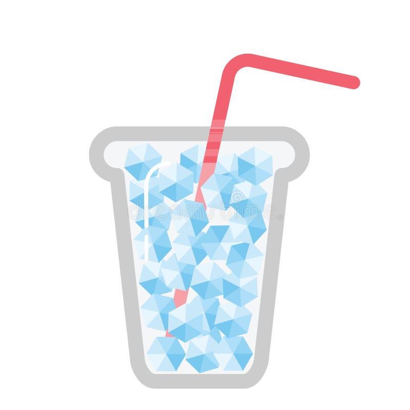 Kall med is drink stock illustrationer