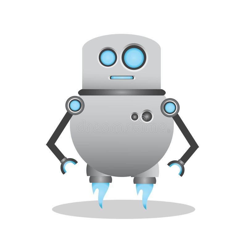 Kall och gullig illustration för robot 3d arkivbilder