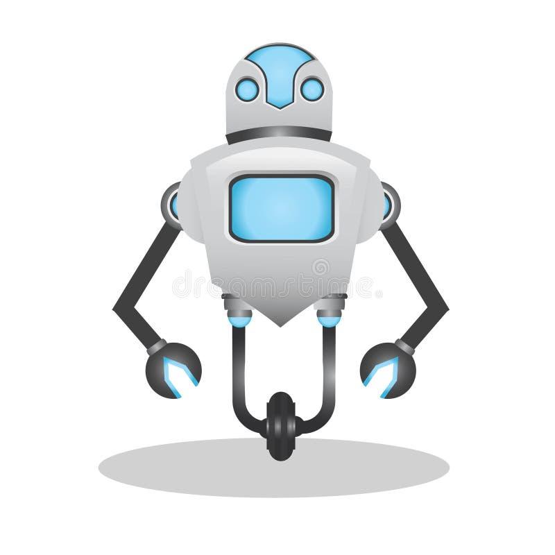 Kall och gullig illustration för robot 3d royaltyfria bilder