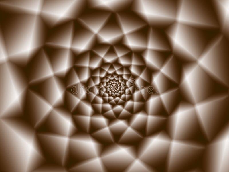 Kall spiral knastrande royaltyfri illustrationer