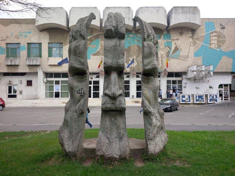 Kall staty från Oradea royaltyfria foton