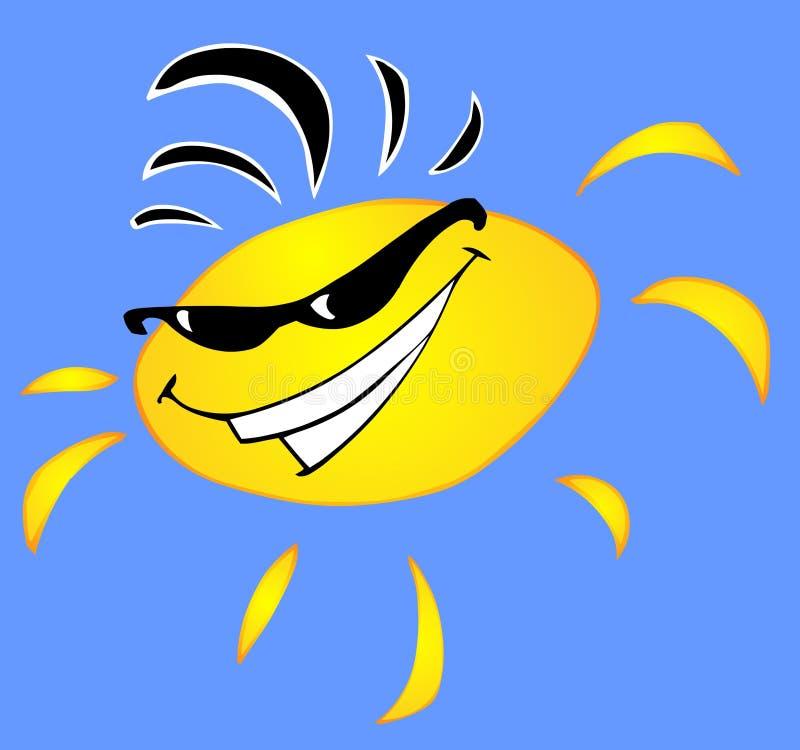 kall sun stock illustrationer