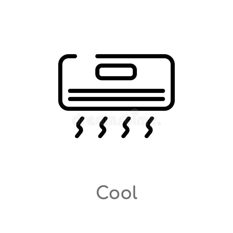 kall vektorsymbol för översikt r redigerbar kall vektorslaglängd vektor illustrationer