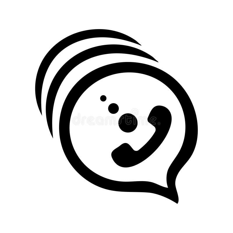 Kalla/appellvektorsymbol stock illustrationer