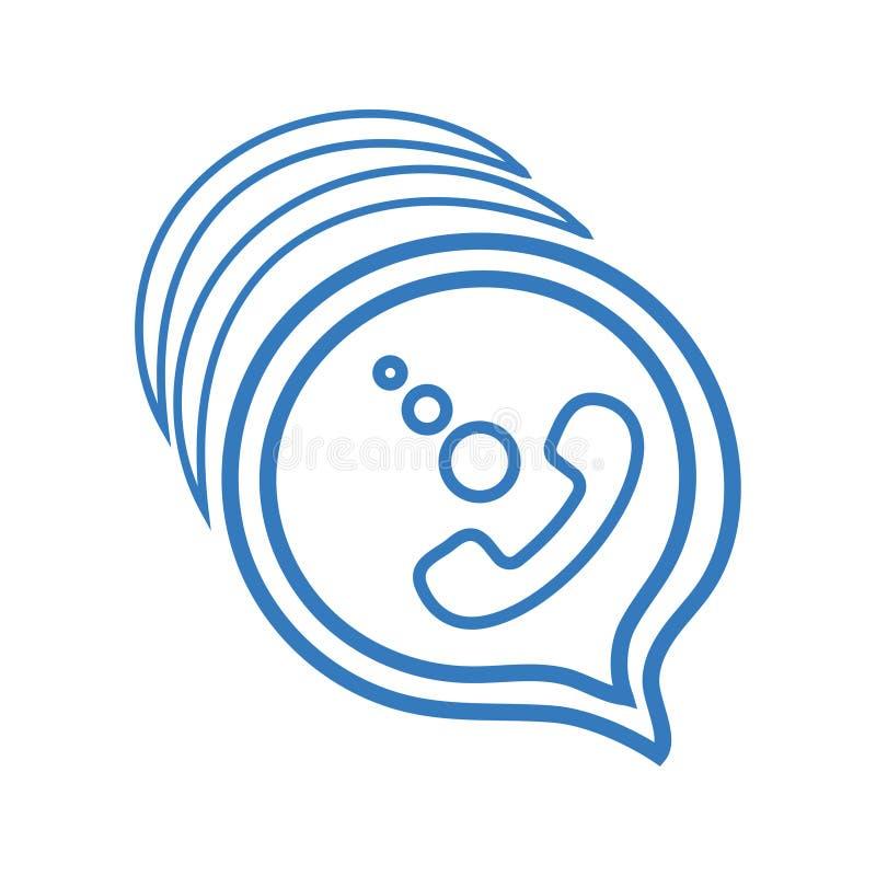 Kalla/appellvektorsymbol royaltyfri illustrationer