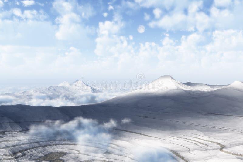 kalla berg royaltyfri illustrationer