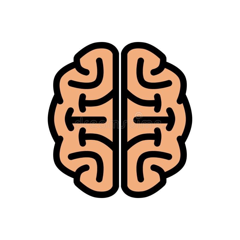 Kalla Chunky Brain Logo Illustration vektor illustrationer
