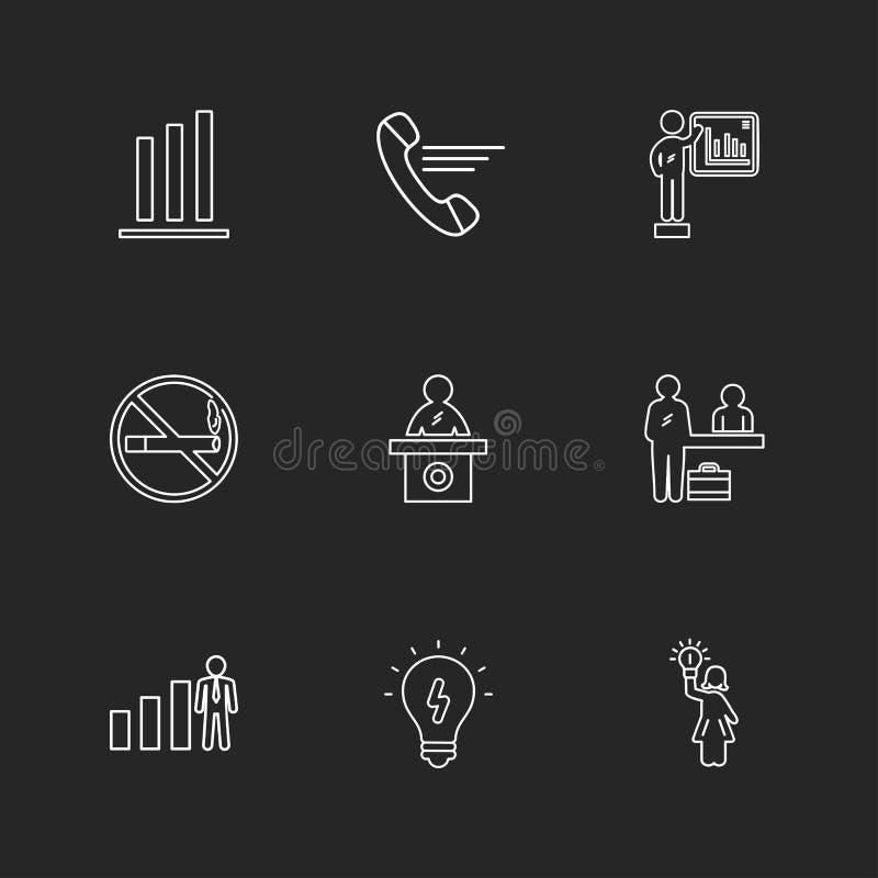 kalla inget - röka, skrivbordet, kulan, diagrammet, grafen, procentsatsen, na royaltyfri illustrationer