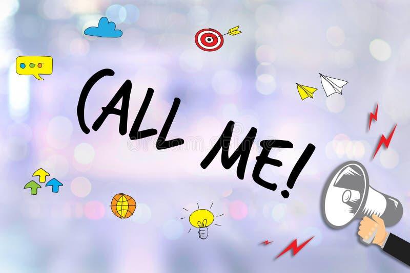 KALLA MIG kontaktar som oss, behar frågan för kundtjänstservice appell arkivfoton