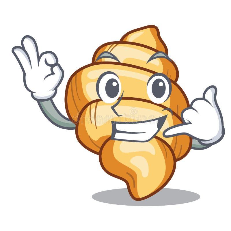 Kalla mig pastagnocchi på a-tecknade filmen royaltyfri illustrationer