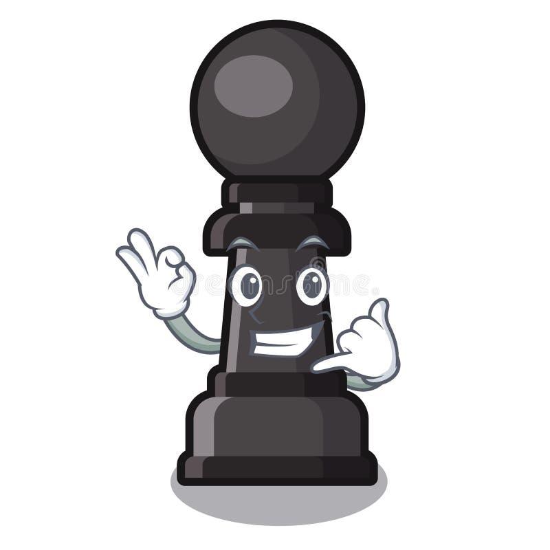 Kalla som mig, pantsätter schack på i teckenet royaltyfri illustrationer