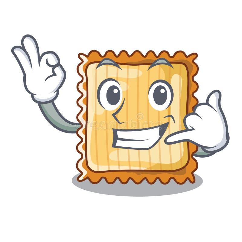 Kalla som mig, tjänas som lasagne i tecknad filmplattor vektor illustrationer