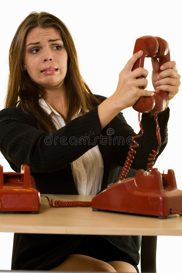 kalla telefonen royaltyfria bilder