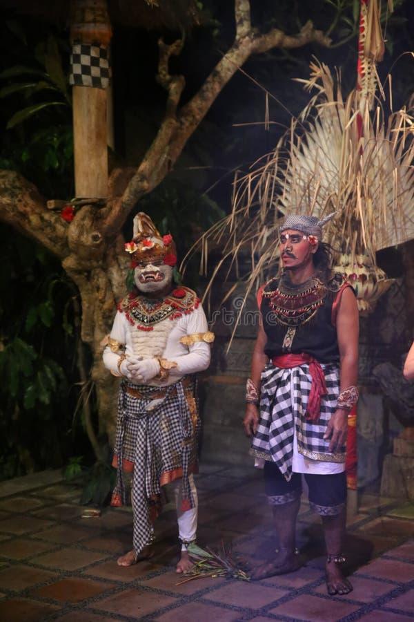 Kallad Kecak för apadans dans fotografering för bildbyråer