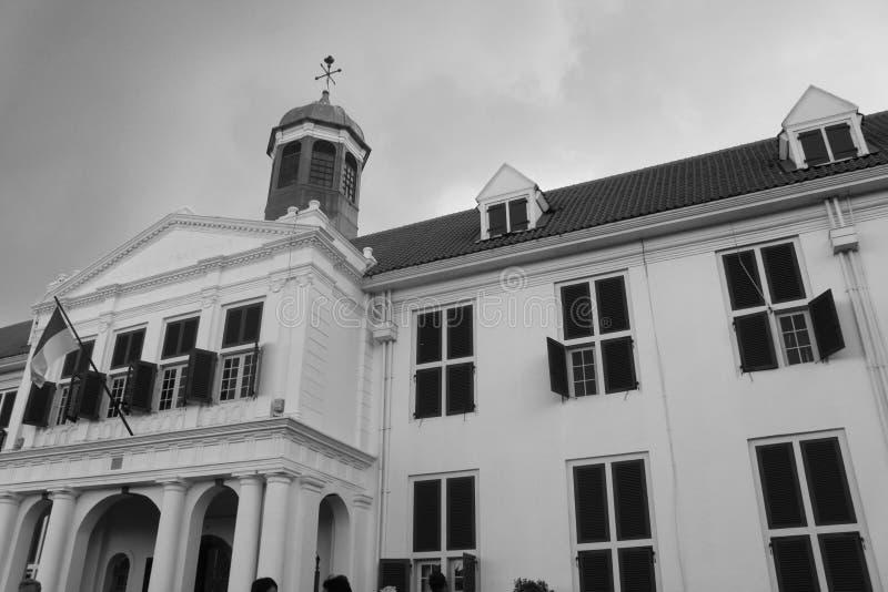 Kallade historisk byggnad Kota tuaJakarta för den gamla staden från holländsk era i Indonesien museet Fatahillah royaltyfri fotografi