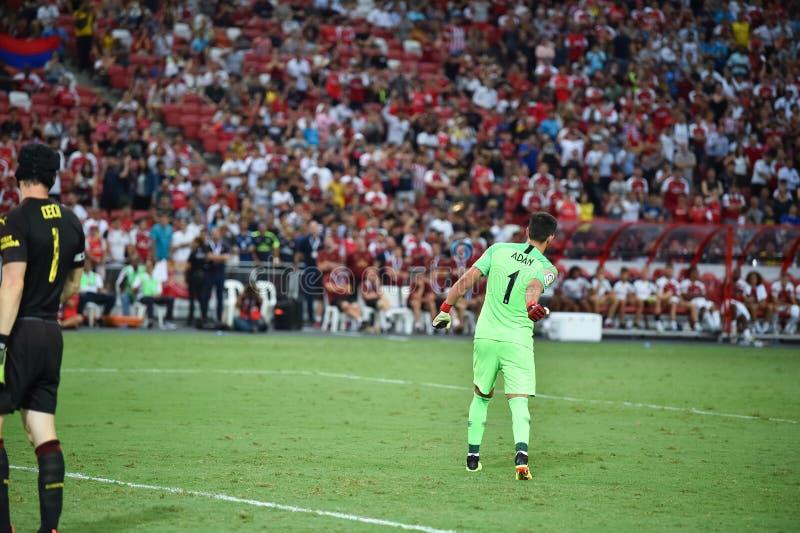 Kallang新加坡26Jul2018 :Atletico m的安东尼奥adan 1个球员 免版税库存图片