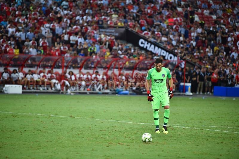 Kallang新加坡26Jul2018 :Atletico m的安东尼奥adan 1个球员 图库摄影