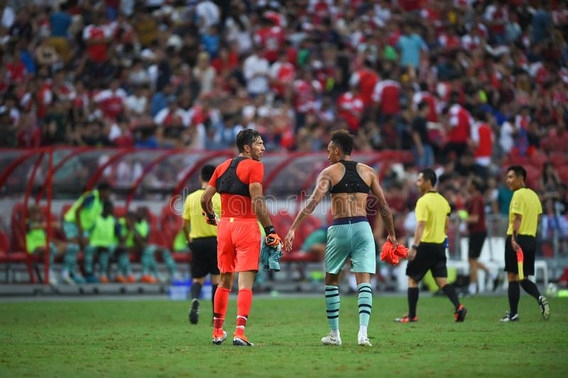 Kallang-Σιγκαπούρη 28 Ιουλίου 2018: Φορέας του Gianluigi Buffon 30 PSG ι στοκ φωτογραφίες με δικαίωμα ελεύθερης χρήσης