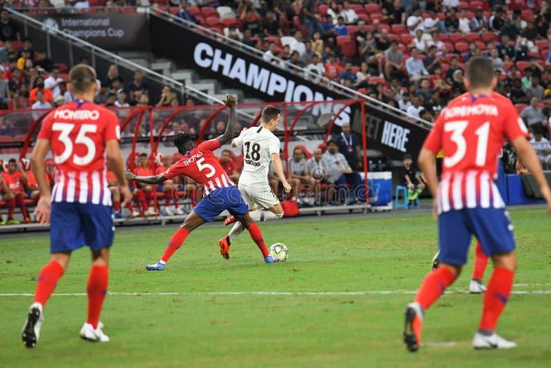 Kallang-Σιγκαπούρη 30 Ιουλίου 2018: Giovani lo Celso 18 φορέας PSG ι στοκ φωτογραφία