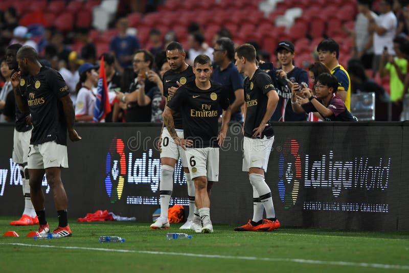 Kallang-Σιγκαπούρη 30 Ιουλίου 2018: Verratti 6 του Marco φορέας PSG στο α στοκ φωτογραφία