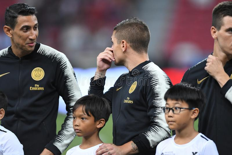 Kallang-Σιγκαπούρη 30 Ιουλίου 2018: Verratti 6 του Marco φορέας PSG στο α στοκ φωτογραφίες