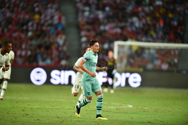 Kallang-Singapore 28 luglio 2018: Giocatore di Mesut Ozil 10 dell'arsenale dentro immagini stock libere da diritti