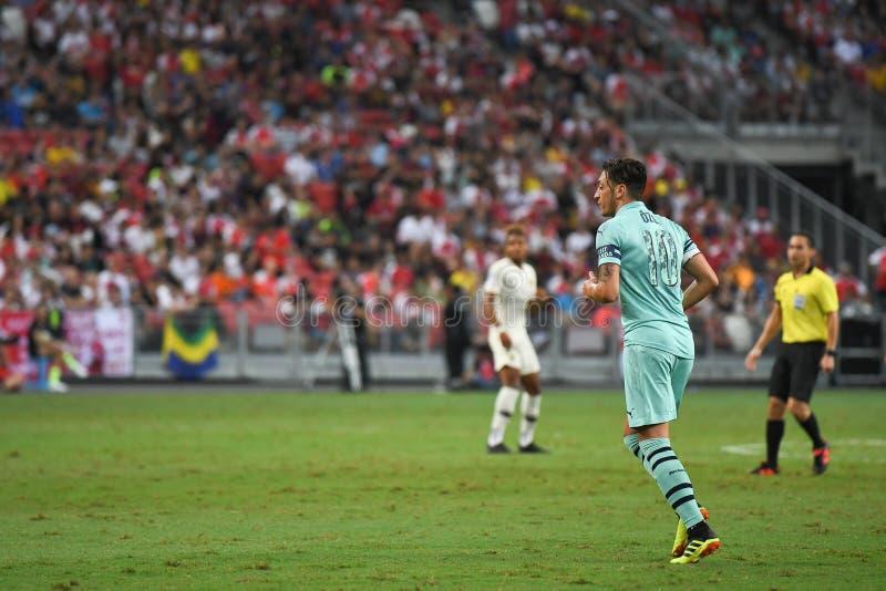 Kallang-Singapore 28 luglio 2018: Giocatore di Mesut Ozil 10 dell'arsenale dentro fotografia stock