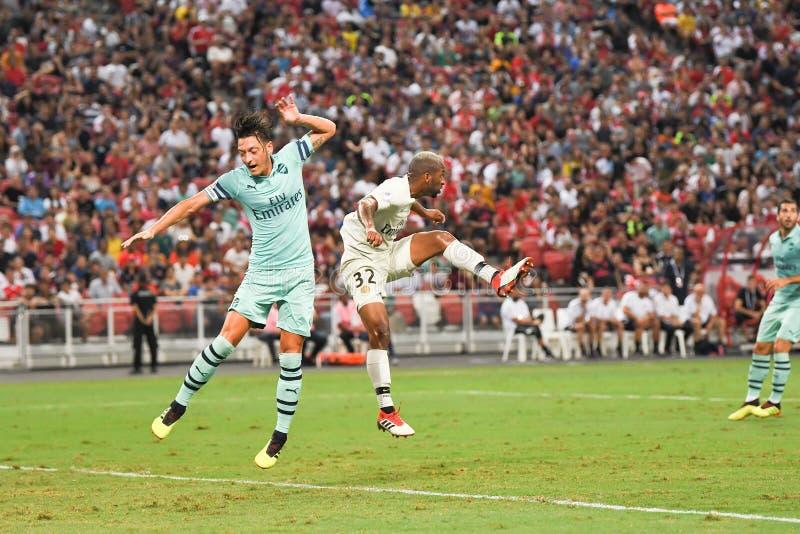 Kallang-Singapore 28 luglio 2018: Giocatore di Mesut Ozil 10 dell'arsenale dentro immagine stock