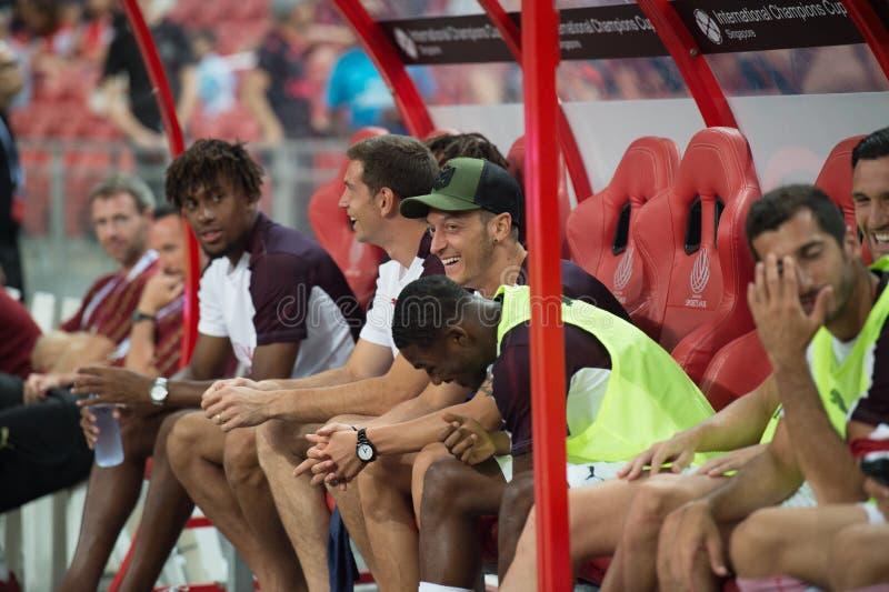 Kallang-Singapur 26. Juli 2018: Mesut-ozil 10 Spieler des Arsenals herein lizenzfreies stockbild