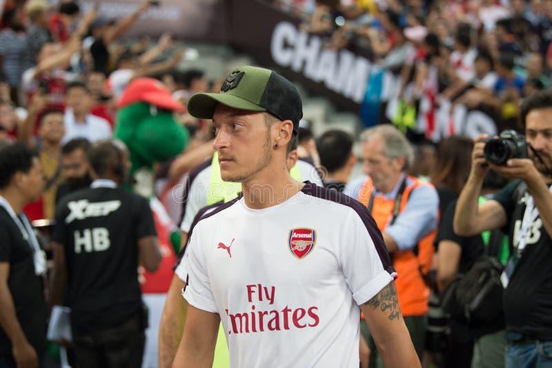 Kallang-Singapur 26. Juli 2018: Mesut-ozil 10 Spieler des Arsenals herein lizenzfreie stockbilder