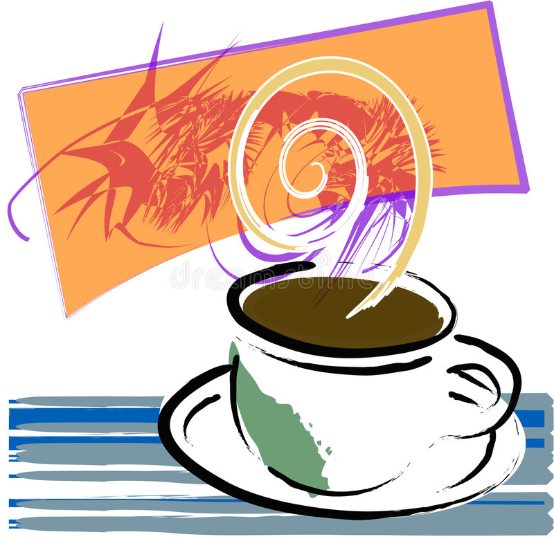 kallar kaffe stock illustrationer