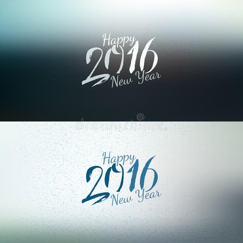 Kalligrafie nieuwe 2016 jaar geplaatste banners royalty-vrije illustratie