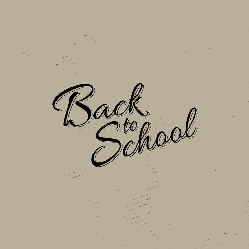 Kalligrafie van de voorraad de vectorillustratie terug naar School Vier achtergronden Eps 10 royalty-vrije illustratie
