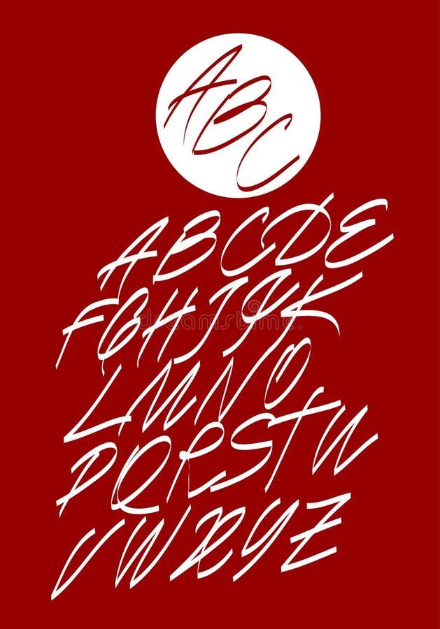 Kalligrafisch alfabet De elementen van het ontwerp royalty-vrije illustratie