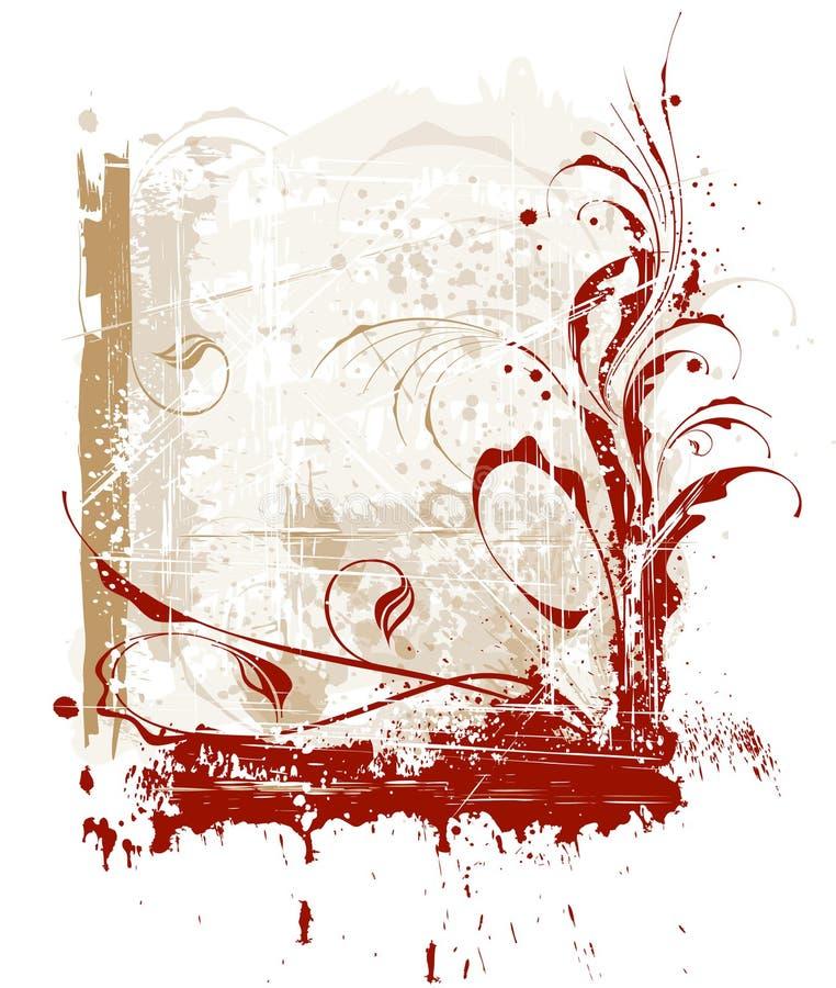 Kalligrafisch uitstekend frame stock illustratie