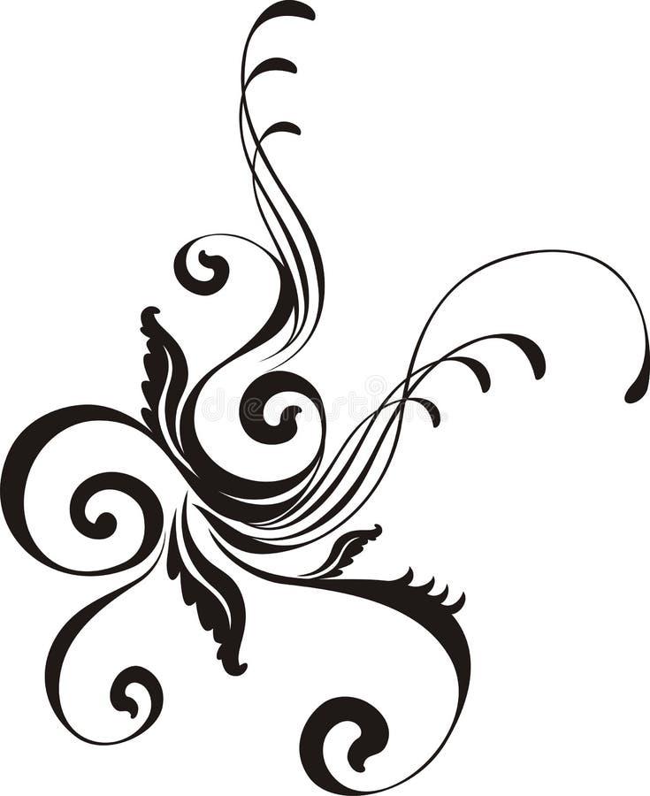 Kalligrafisch vectorornament stock illustratie