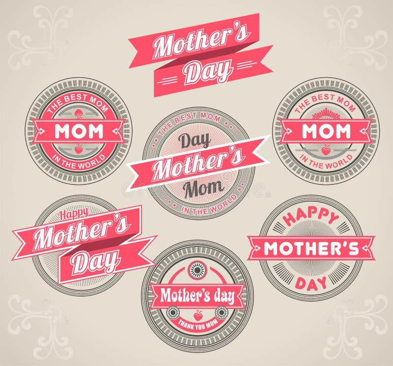 Kalligrafische de moedersdag van Ontwerpelementen royalty-vrije illustratie