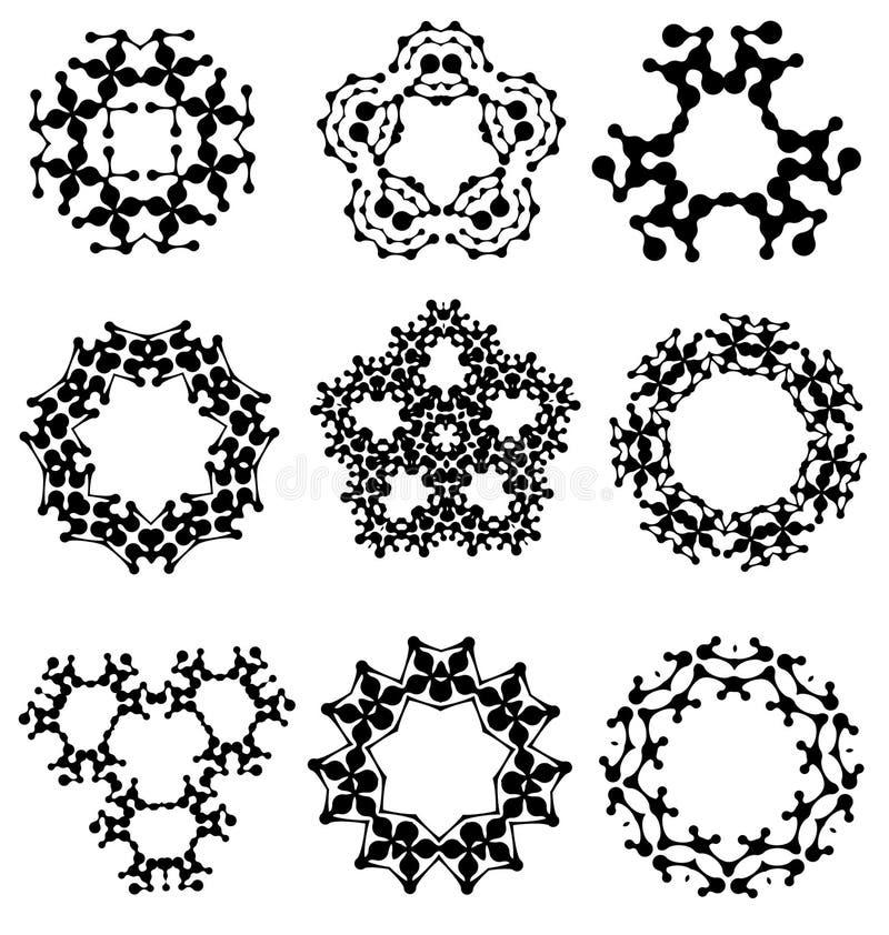 Kalligrafische decoratieve elementen en photomasks vector illustratie