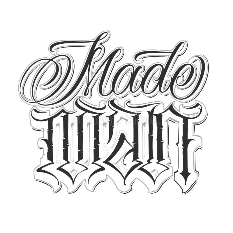 Kalligrafische tatoegeringsreeks royalty-vrije illustratie