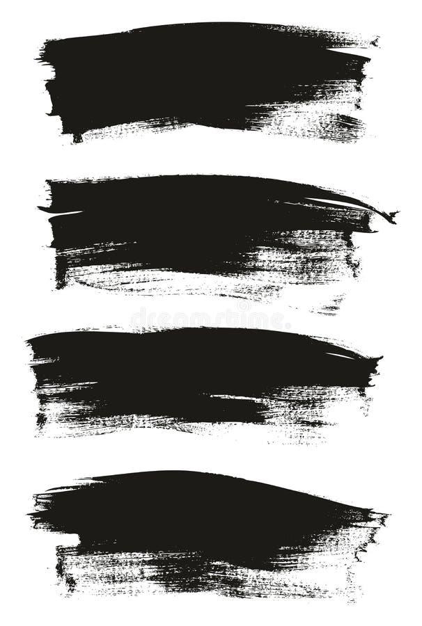 Kalligraphie malen dünner Bürsten-Hintergrund-hohes Detail, Zusammenfassungs-Vektor-, denhintergrund 31 einstellte vektor abbildung