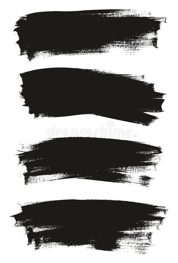 Kalligraphie malen dünner Bürsten-Hintergrund-hohes Detail, Zusammenfassungs-Vektor-, denhintergrund 28 einstellte lizenzfreie abbildung