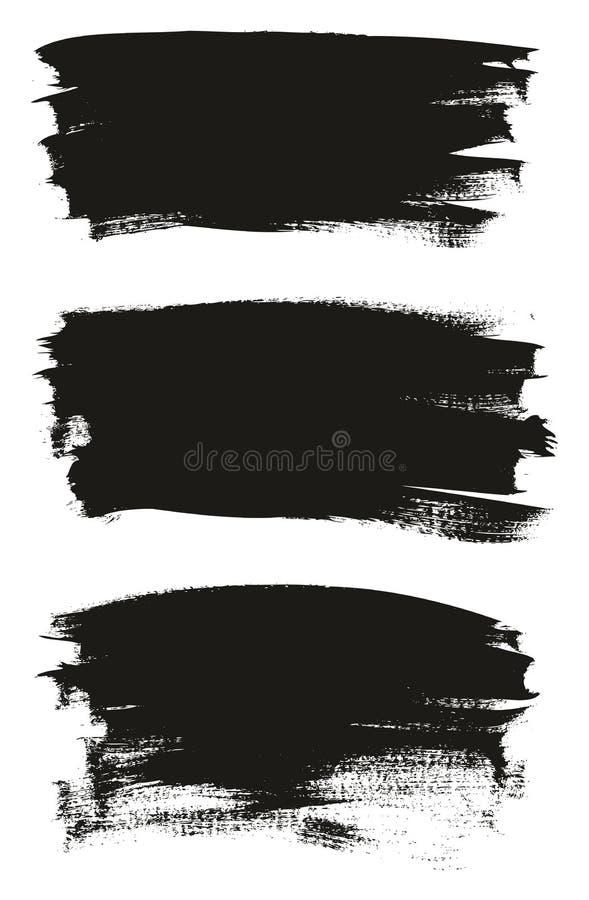 Kalligraphie malen dünner Bürsten-Hintergrund-hohes Detail, Zusammenfassungs-Vektor-, denhintergrund 23 einstellte stock abbildung