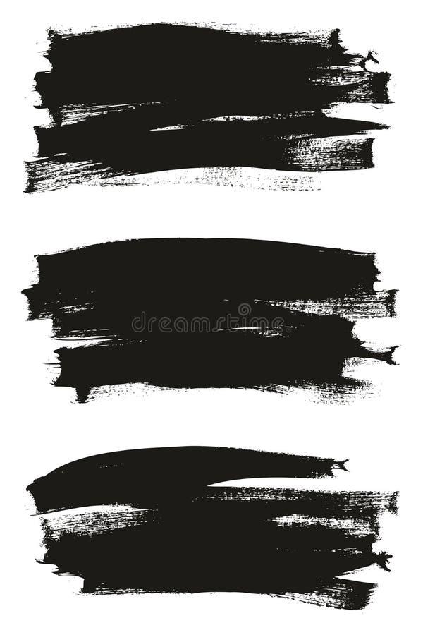 Kalligraphie malen dünner Bürsten-Hintergrund-hohes Detail, Zusammenfassungs-Vektor-, denhintergrund 19 einstellte lizenzfreie abbildung